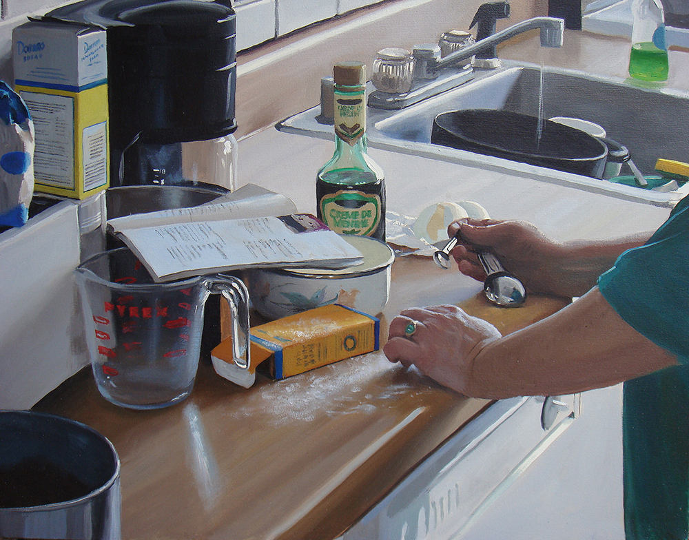"Kitchen, oil on canvas, 22"" x 28"", 2007."