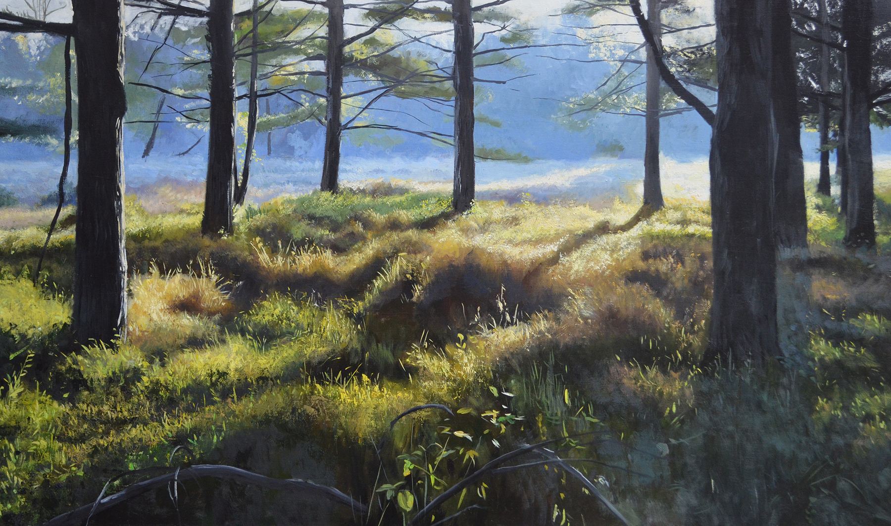 "Loch Raven, oil on canvas, 20"" x 40"" 2015."