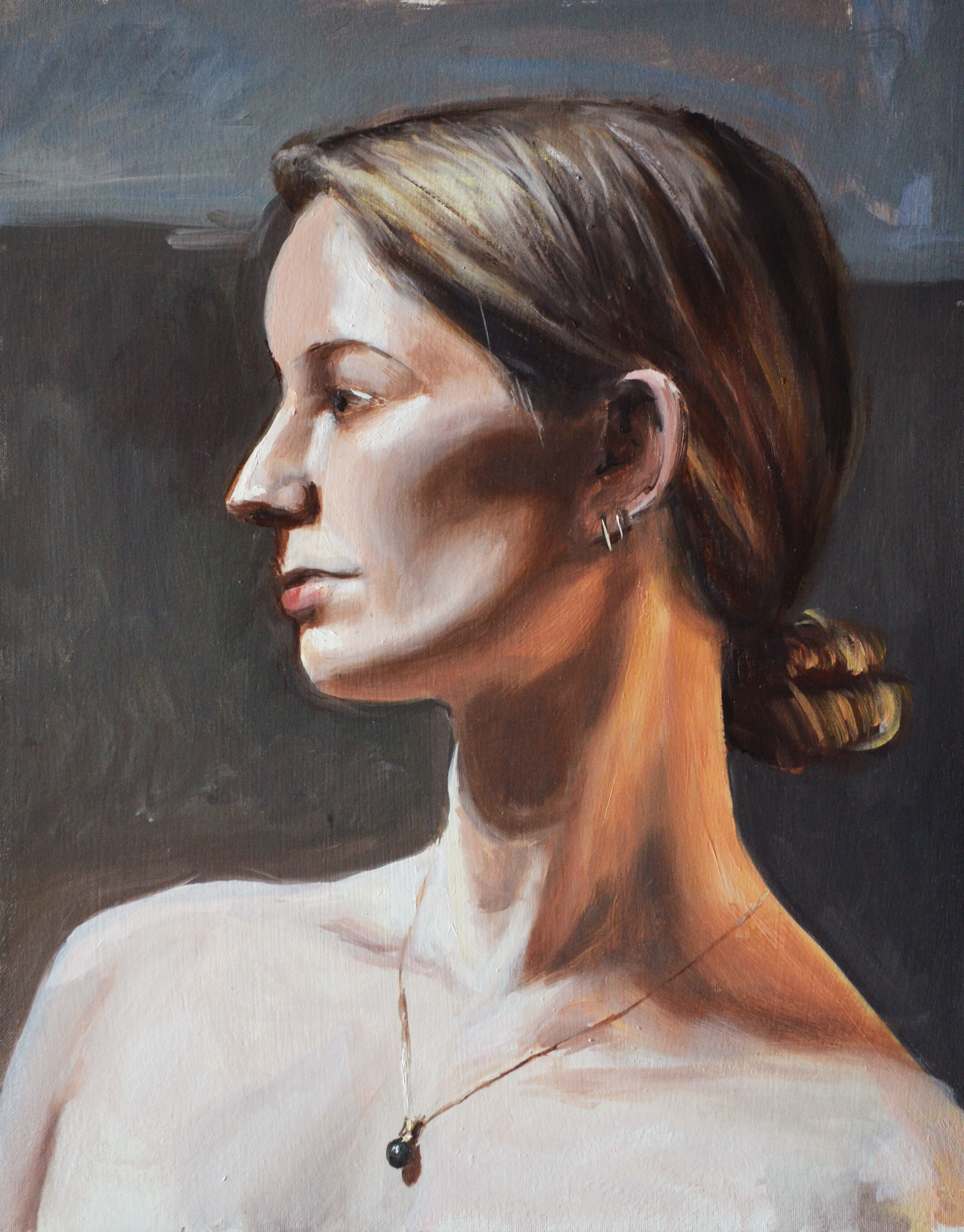 "Megan, oil on canvas, 14"" x 18"", 2012."